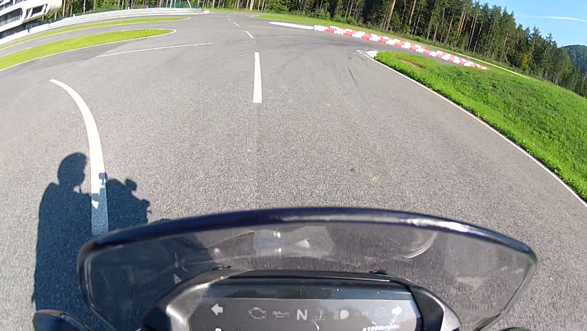 Motorcycle Racing Training - HD stock footage clip