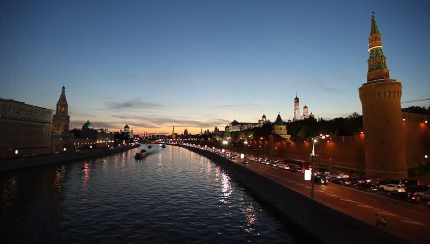 Kremlin Embankment - Embankment of the Moskva River near the Kremlin. Located