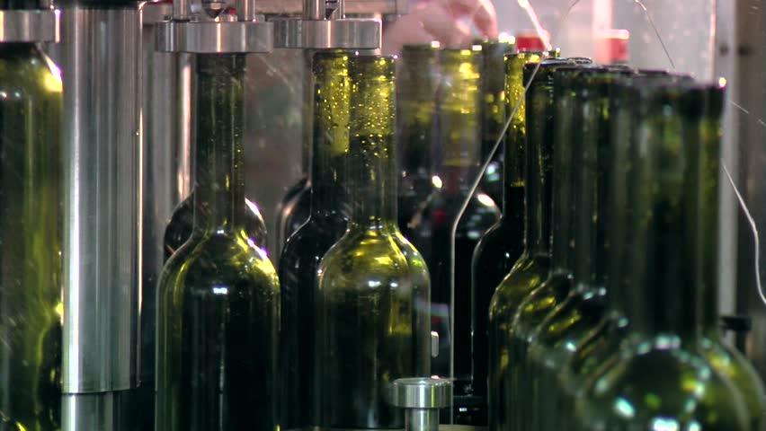 Wine Bottling factory... - HD stock footage clip
