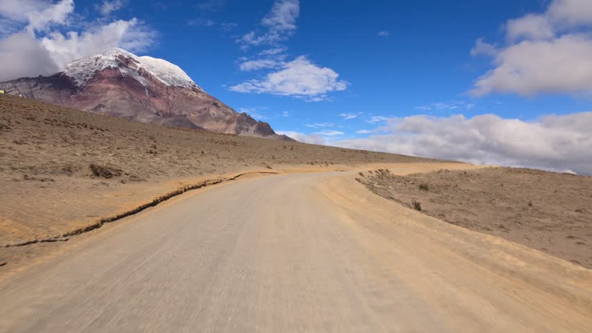 Driving thru Ecuadorian Andes on the way up to Chimborazo refugee at 5000m