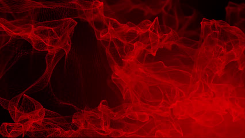 Abstract Element and Background - Particle Animation - 2 - Red