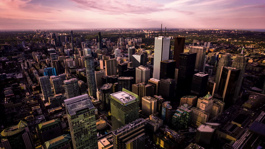 High angle view of Toronto downtown time lapse, Canada fx | Shutterstock HD Video #28245112