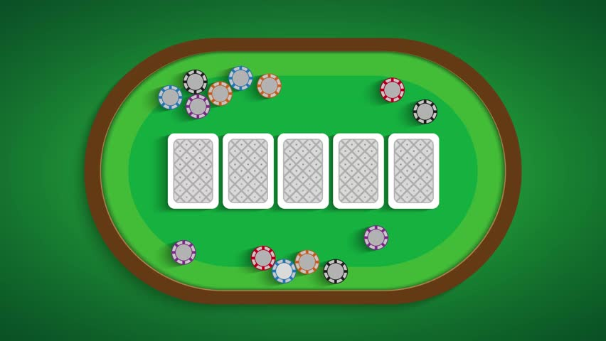 Poker table with a combination of five low | Shutterstock HD Video #28365127