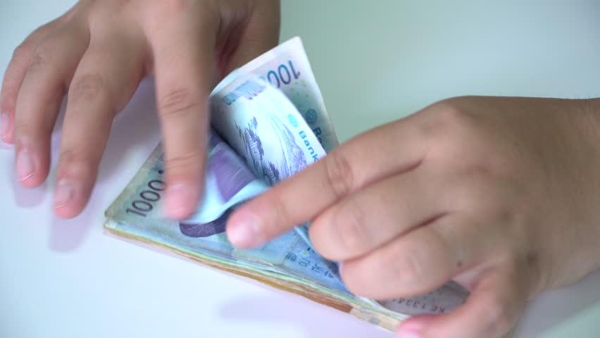 Counting Money won  South Korea | Shutterstock HD Video #28434319