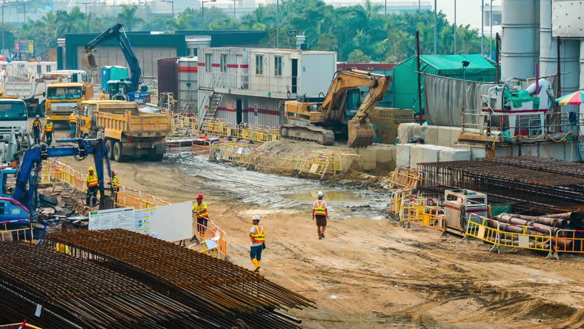 Hongkong,China - August 1th,2012:Building Under Construction in Hongkong