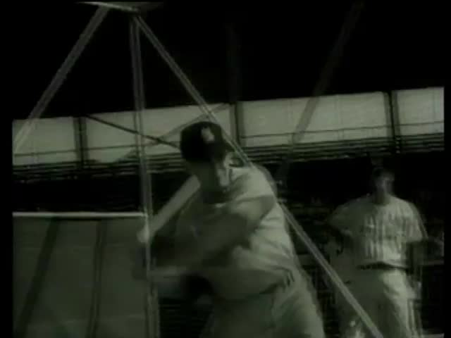 Cardinals baseball players practice batting in Florida circa 1958-MGM PICTURES, UNIVERSAL-INTERNATIONAL NEWSREEL, USA, filmed in 1958 - SD stock video clip