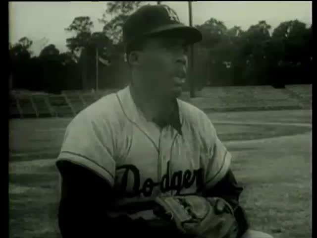 Dodger's catcher John Roseboro Florida circa 1958-MGM PICTURES, UNIVERSAL-INTERNATIONAL NEWSREEL, USA, filmed in 1958 - SD stock video clip