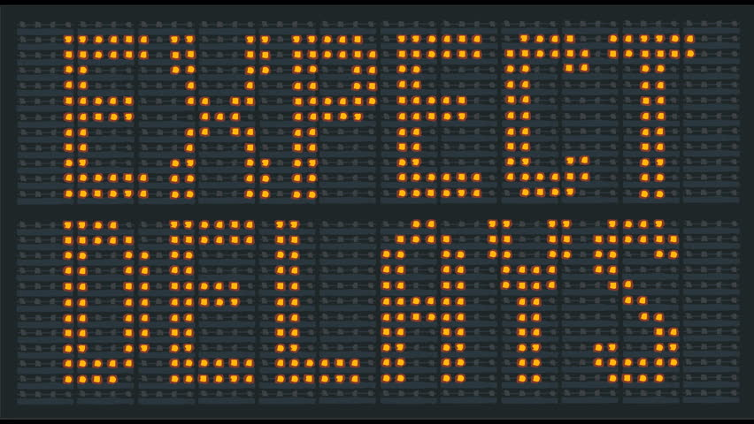 Animation of flashing urban traffic congestion sign saying expect delays
