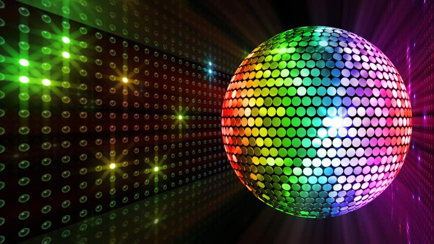 Disco Mirror Ball Lights. Stock Footage Video 2865850