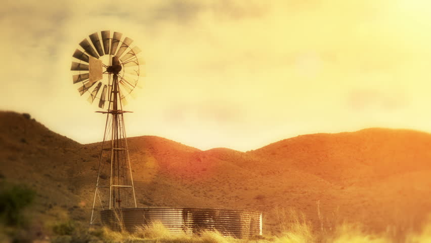 Spinning water pumping windmill in dry / arid area - Motionphoto Seamless Loop (use only the first 7 frames looped to create a small optimized GIF for web)