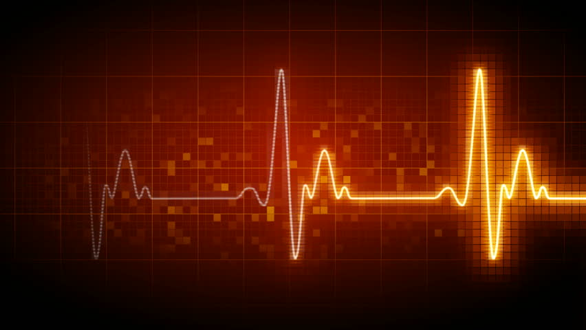 Seamlessly looping heart monitor.  - HD stock video clip