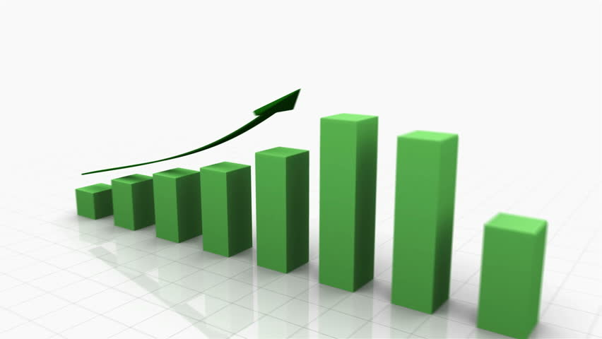 3D Growing Business Chart in Green with Climbing Arrow. Different variations of this file as well as many other business related animations available in my Contributor Gallery. - HD stock video clip