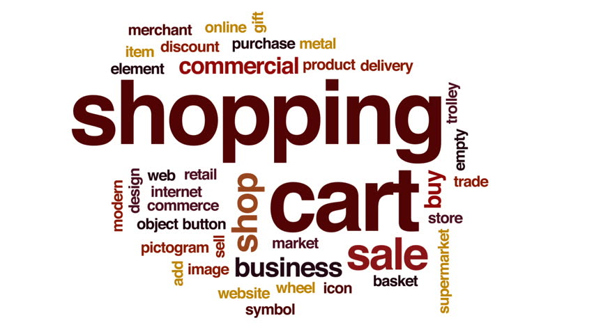 Shopping cart animated word cloud, text design animation. | Shutterstock HD Video #28746169
