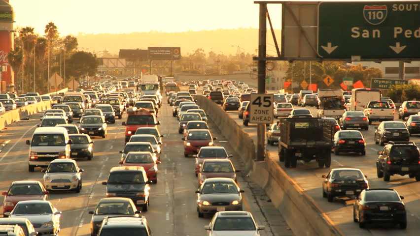 Insane Rush Hour Traffic Jam in California  | Shutterstock HD Video #2879377