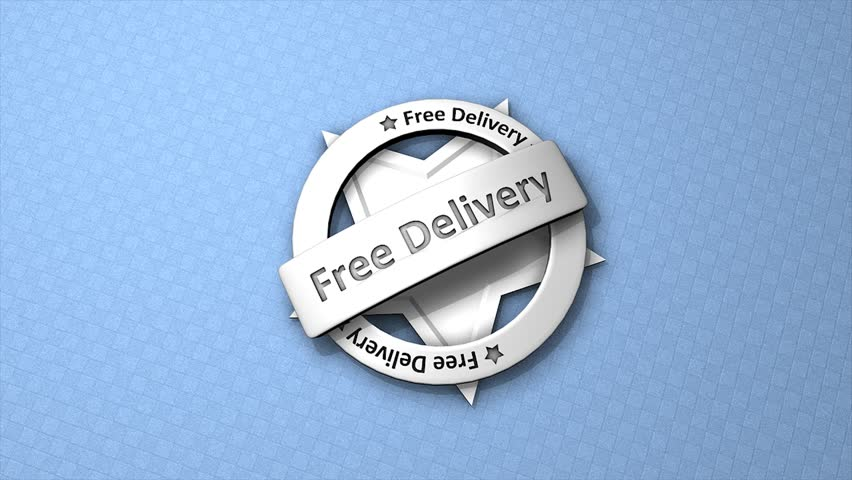 3d animation, Free delivery badge.