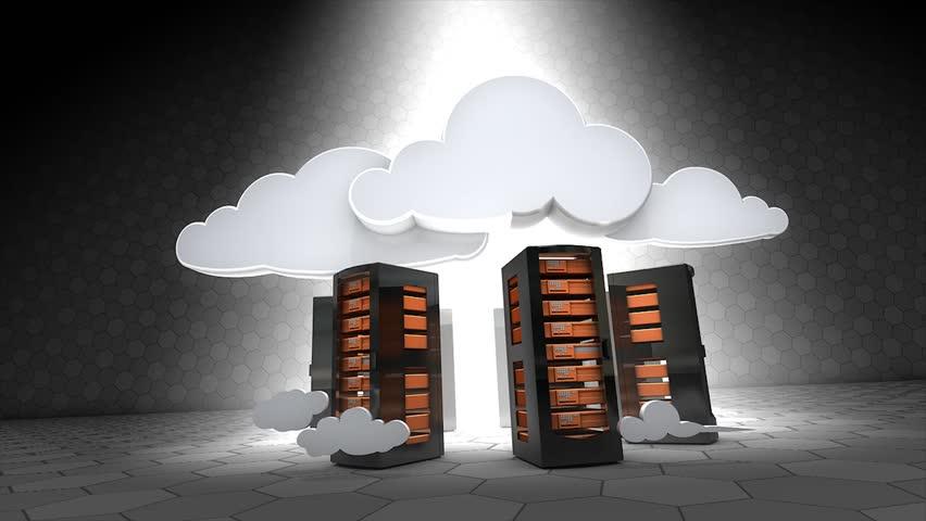 Concept animation, Cloud server.