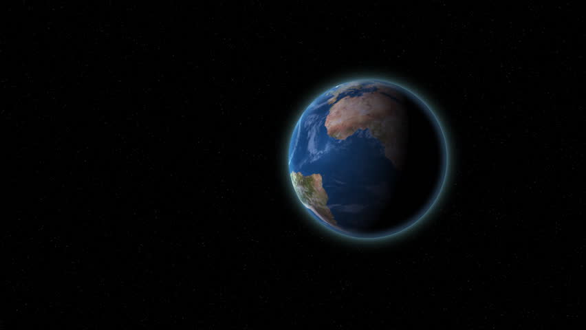 Zooming into the Earth from a distance. - HD stock footage clip