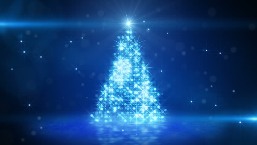 Christmas tree glowing blue particles. last 10 seconds are loopable | Shutterstock HD Video #2890735