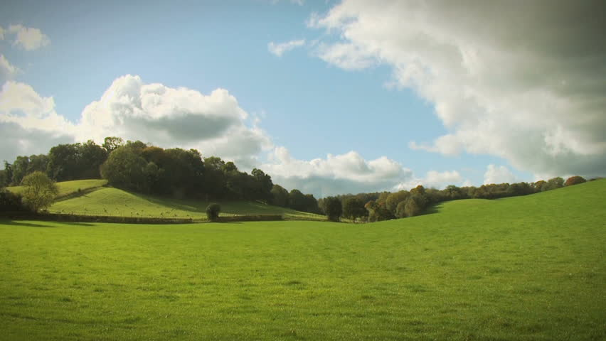 English Landscape, HD. An English countryside scene in the Surrey hills with time lapsed clouds passing overhead. #289177