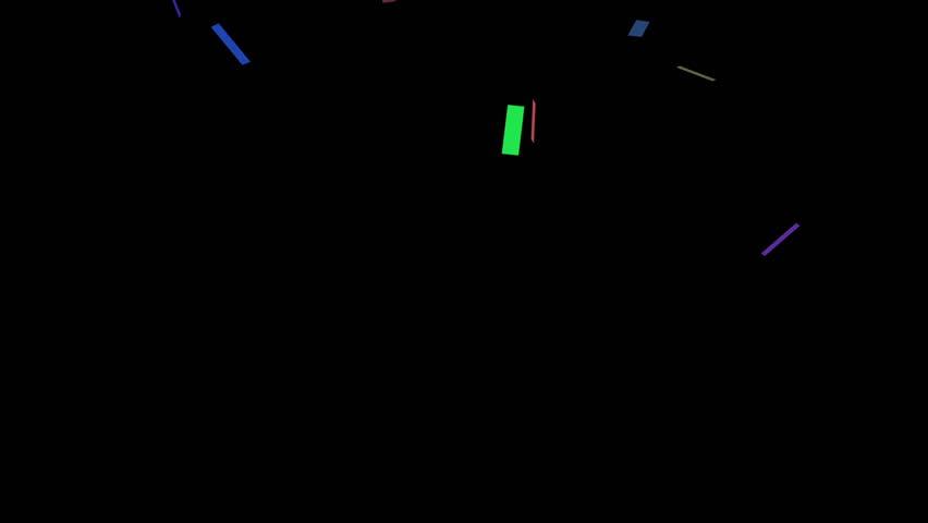 falling confetti background - HD stock footage clip