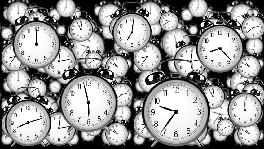 Many old fashioned clocks flying in time lapse in 3D space | Shutterstock HD Video #2898169