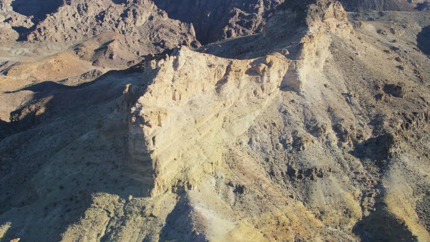 Aerial view of desert mountain landscape Extreme terrain Southeast of Las Vegas Nevada Arizona USA RED EPIC | Shutterstock HD Video #29009221