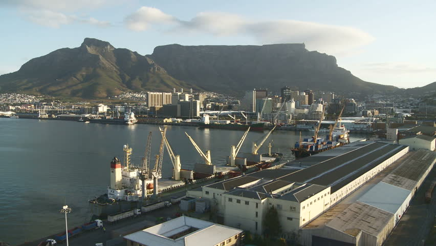 Timelapse of ships moved in Cape Town harbor