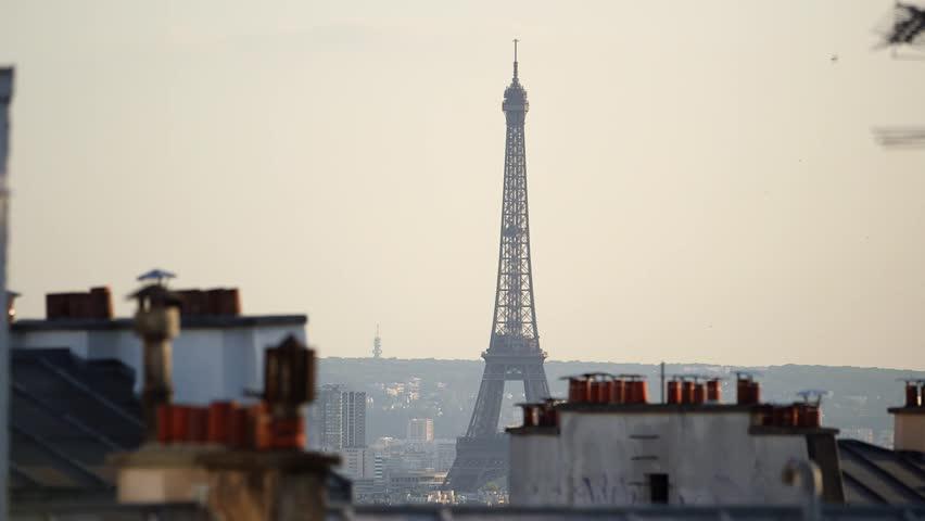 Paris Eiffel Tower at Dusk | Shutterstock HD Video #29136265