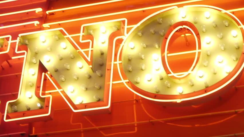 Stock footage No word neon burning | Shutterstock HD Video #2914423