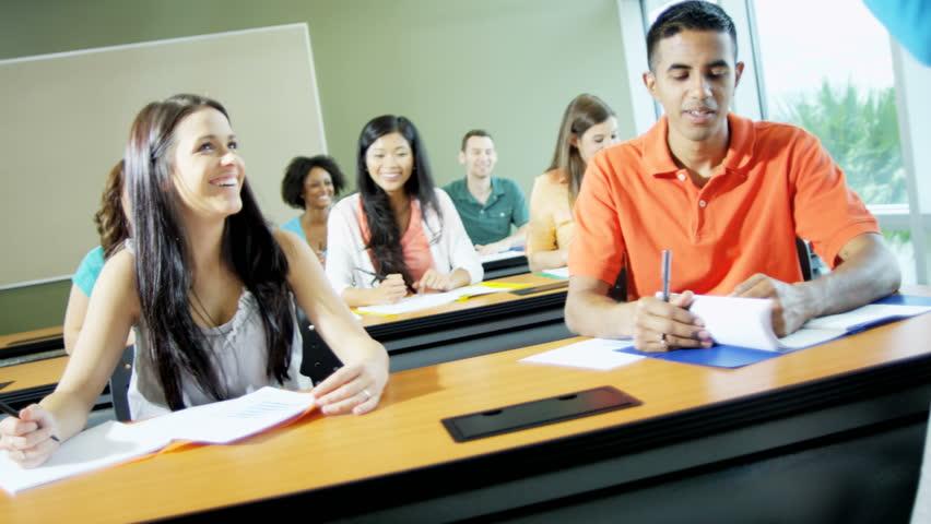 Class multi ethnic teenagers studying school for graduation   | Shutterstock HD Video #29222116