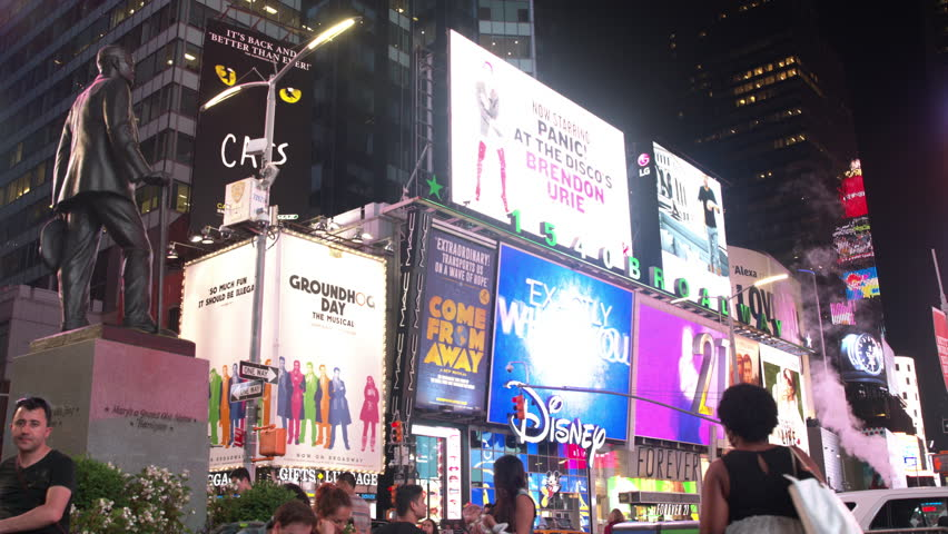 Time Square People Night NYC | Shutterstock HD Video #29225716