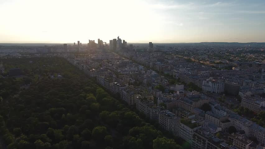 Paris Skyline Aerial View   | Shutterstock HD Video #29225815