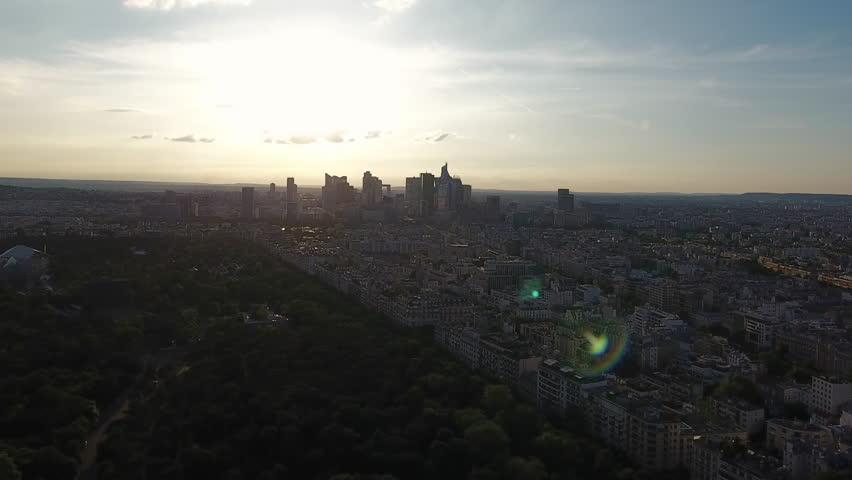 Paris Sunset Skyline Aerial View | Shutterstock HD Video #29226706