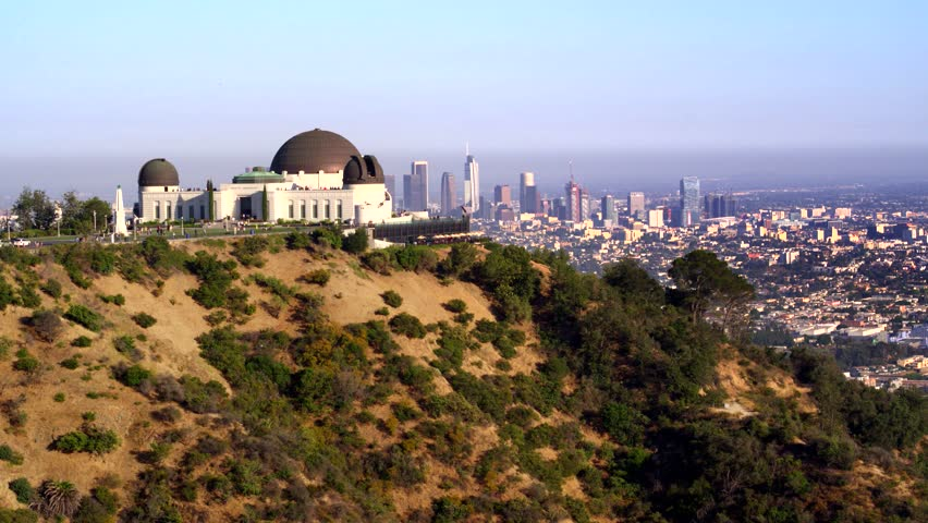 Griffith Park Observatory and view of Downtown Los Angeles   Shutterstock HD Video #29228776