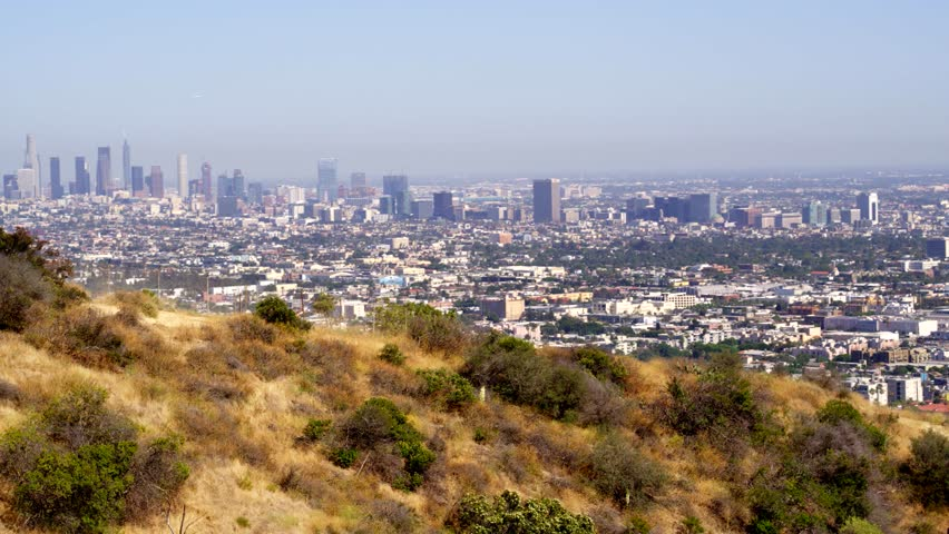 Hiking Runyon Canyon with a View of Los Angeles   Shutterstock HD Video #29228839