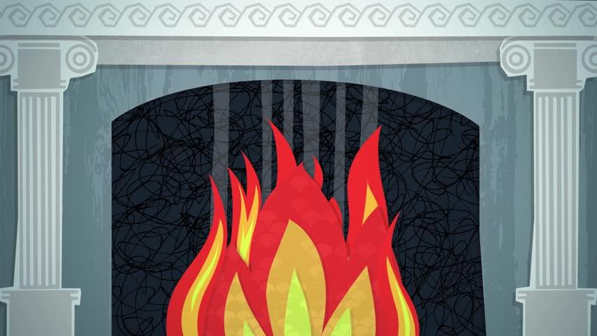 Winter Fireplace Loop HD