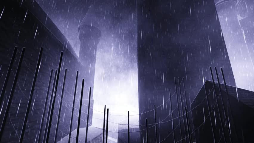Haunted castle - HD stock footage clip