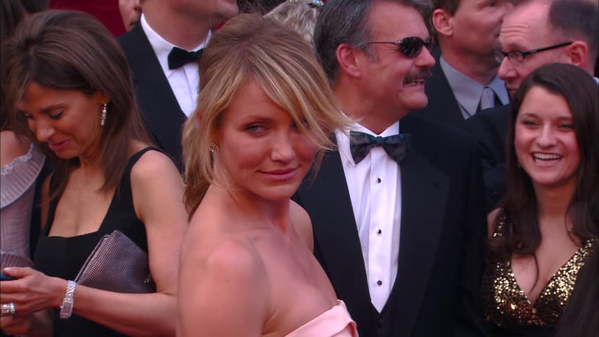 Hollywood, CA - FEBRUARY 24, 2008: Cameron Diaz, walks the red carpet at the Academy Awards 2008 held at the Kodak Theatre
