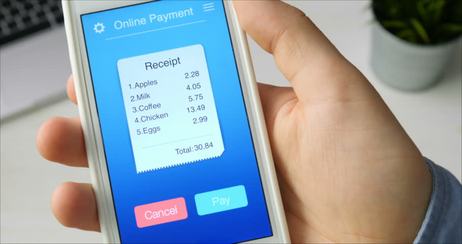 Paying for bill from a grocery store using mobile application on a smartphone | Shutterstock HD Video #29515417