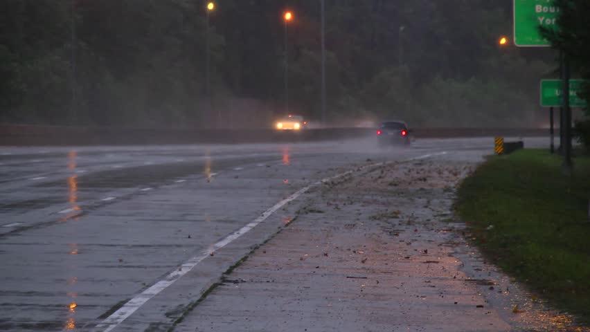 Rainy Highway Stock Footage Video 2952658 - Shutterstock