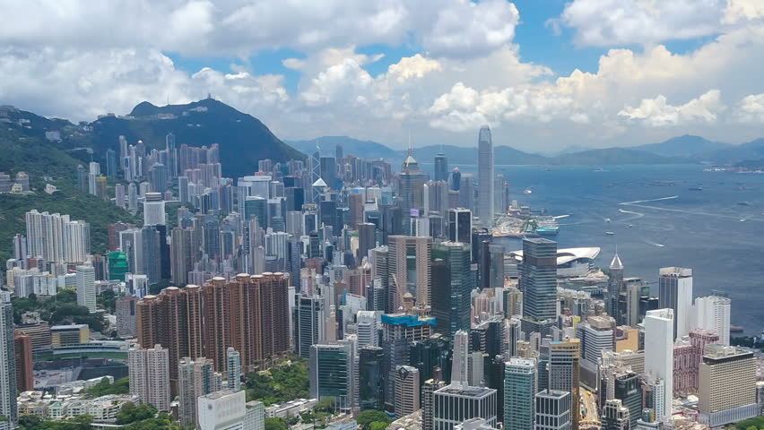 Aerial hyperlapse video of Victoria Harbour in Hong Kong | Shutterstock HD Video #29526757