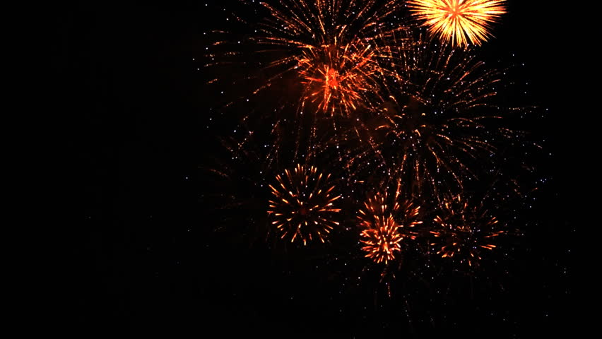 Colorful fireworks at holiday night HD 1080p - HD stock footage clip