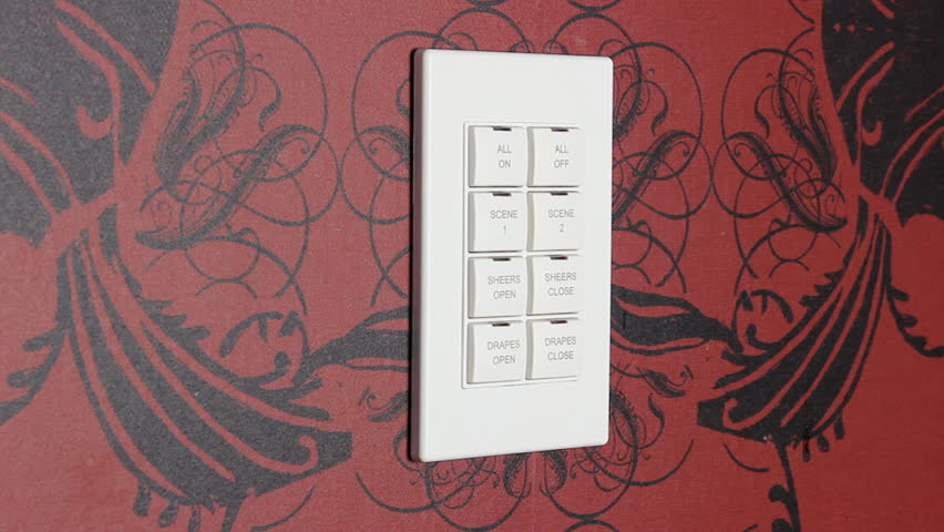 Multiple Light Switch Panel Stock Footage Video 2964976
