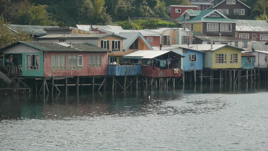 Fishermen village in Castro, Chile