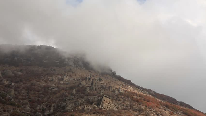 Movement of the clouds on the mountain Demerdji. Alushta, Crimea, Ukraine (TimeLapse)  | Shutterstock HD Video #2983579