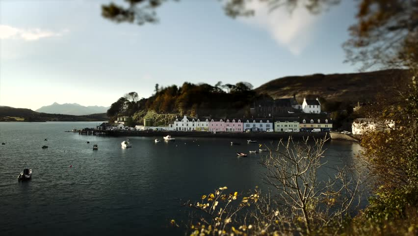 Timelapse of boats in portree harbour isle of skye for Ocean isles fishing village