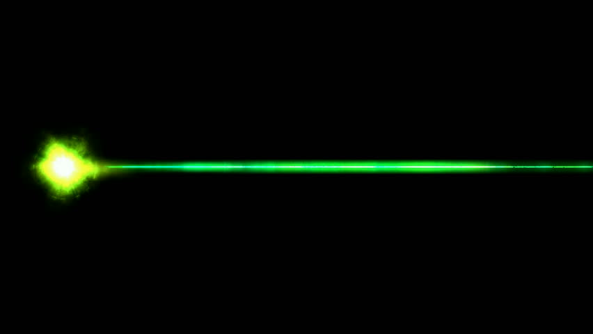 Green rays laser weapon.