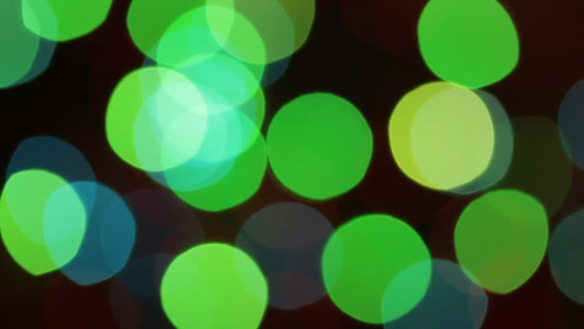 Defocused abstract christmas lights