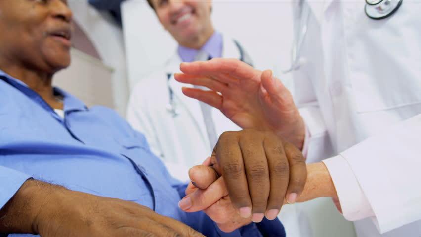 Medical Consultants Reassuring Patient   Shutterstock HD Video #3075298