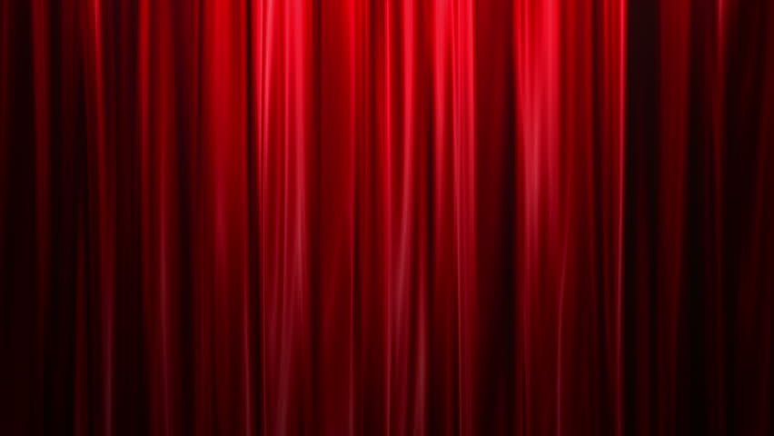 Blue stage curtain background - Red Curtains Open White Background